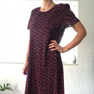 Vintage 1990s floral  dress M/L Christy dawn